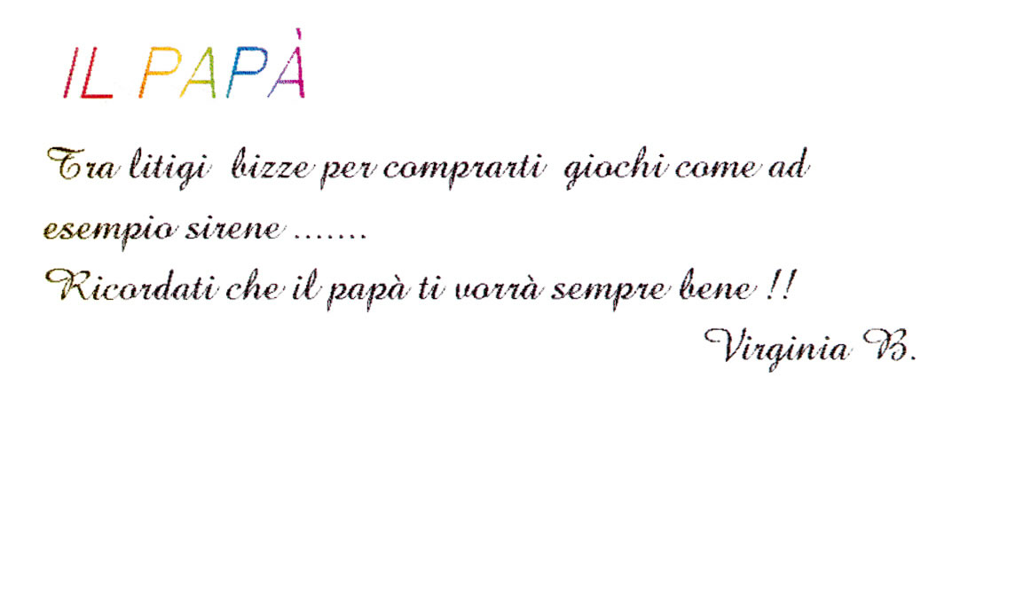 Il papà - Virginia Bizzarri